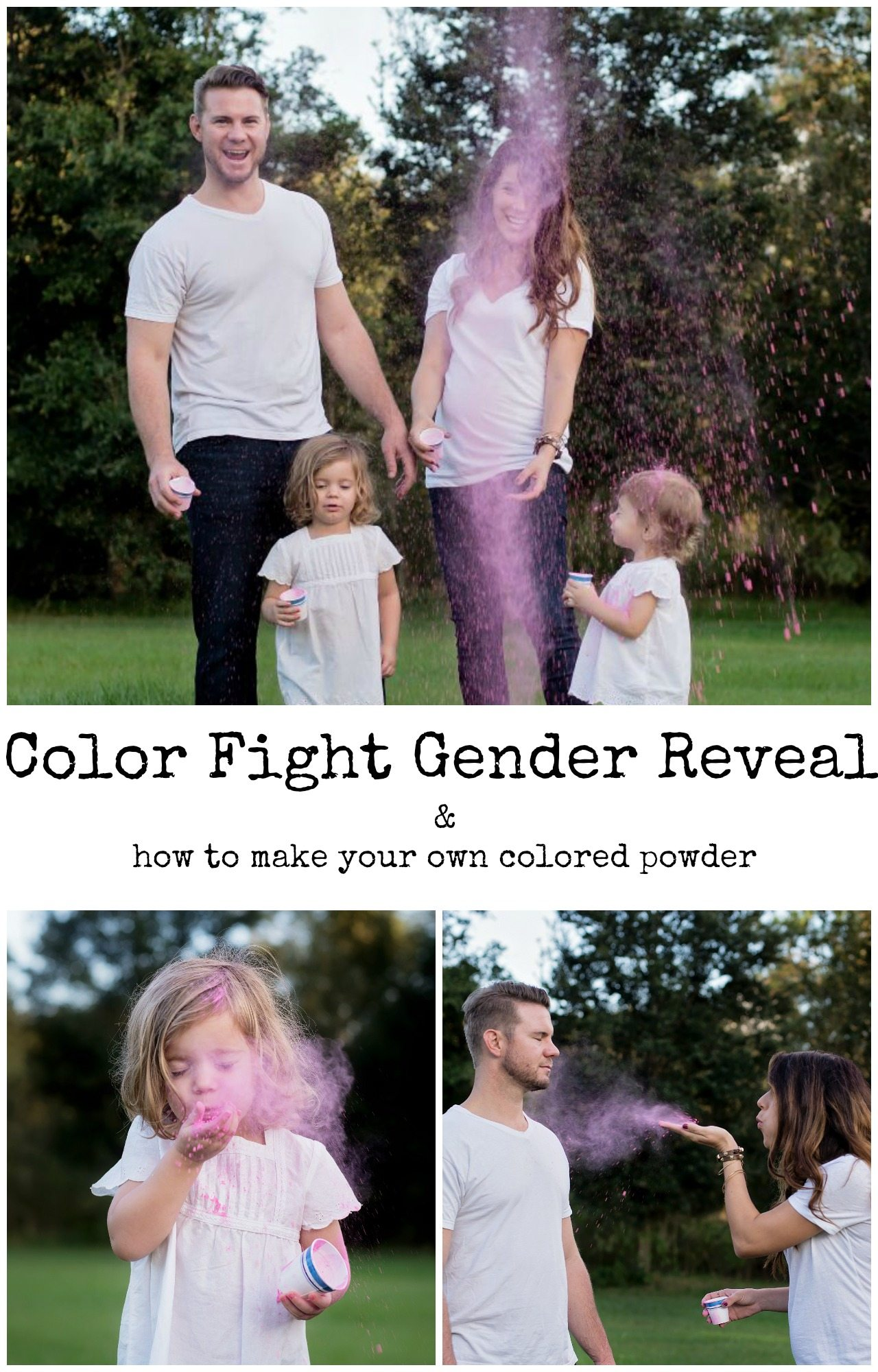 Color Powder Gender Reveal >> Gender Reveal For Baby Number 3 The Gray Ruby Diaries