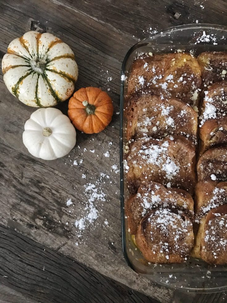 The most decadent French toast. This is the perfect breakfast for thanksgiving. If you love French toast you will love this