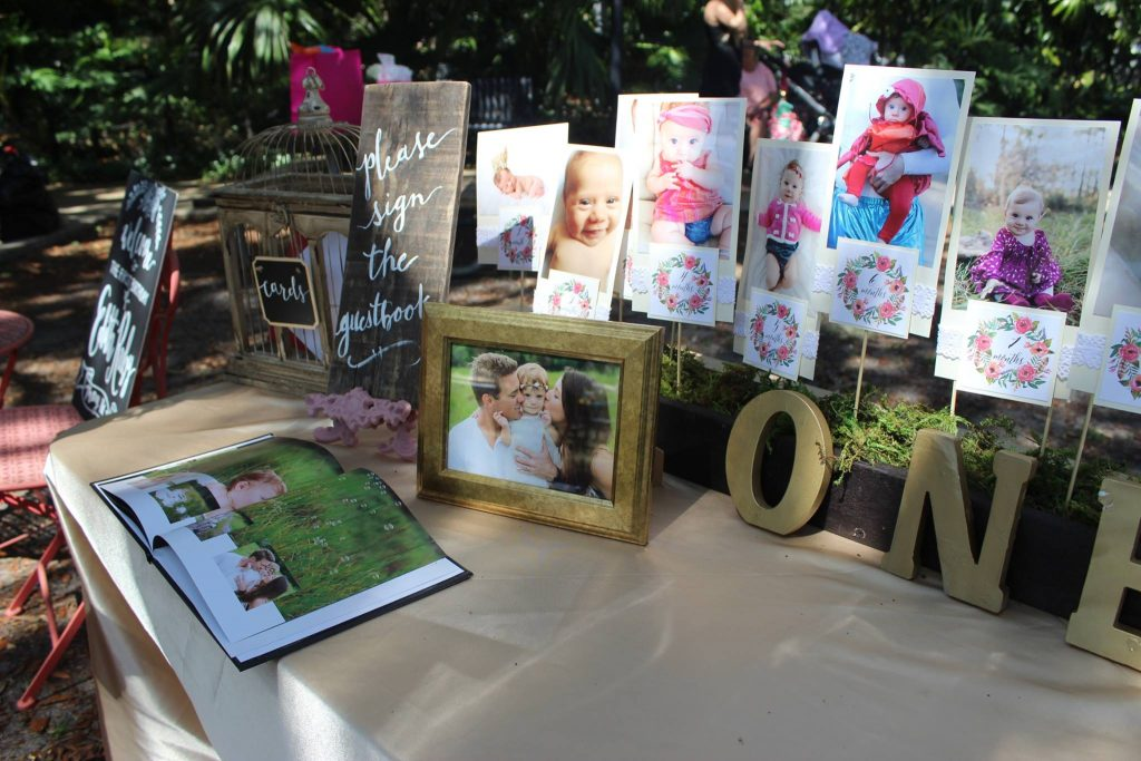 secret garden first birthday Guest book