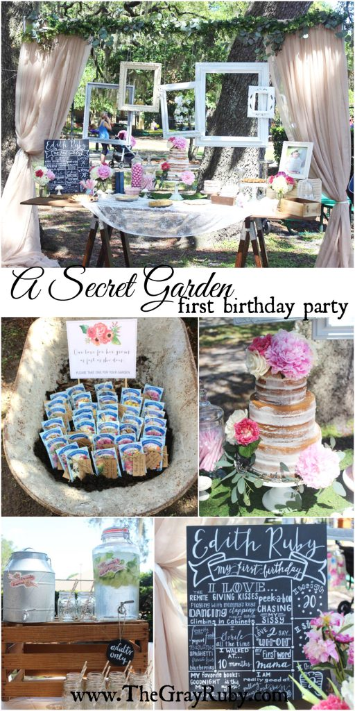 secret garden first birthday