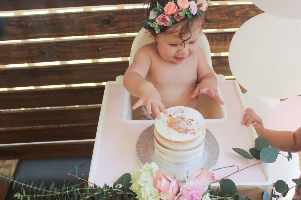 floral first birthday