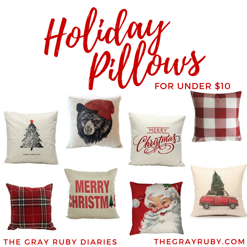 Cheap Decorative Pillows Under 10 Cool Holiday Pillows For Under 60 The Gray Ruby Diaries