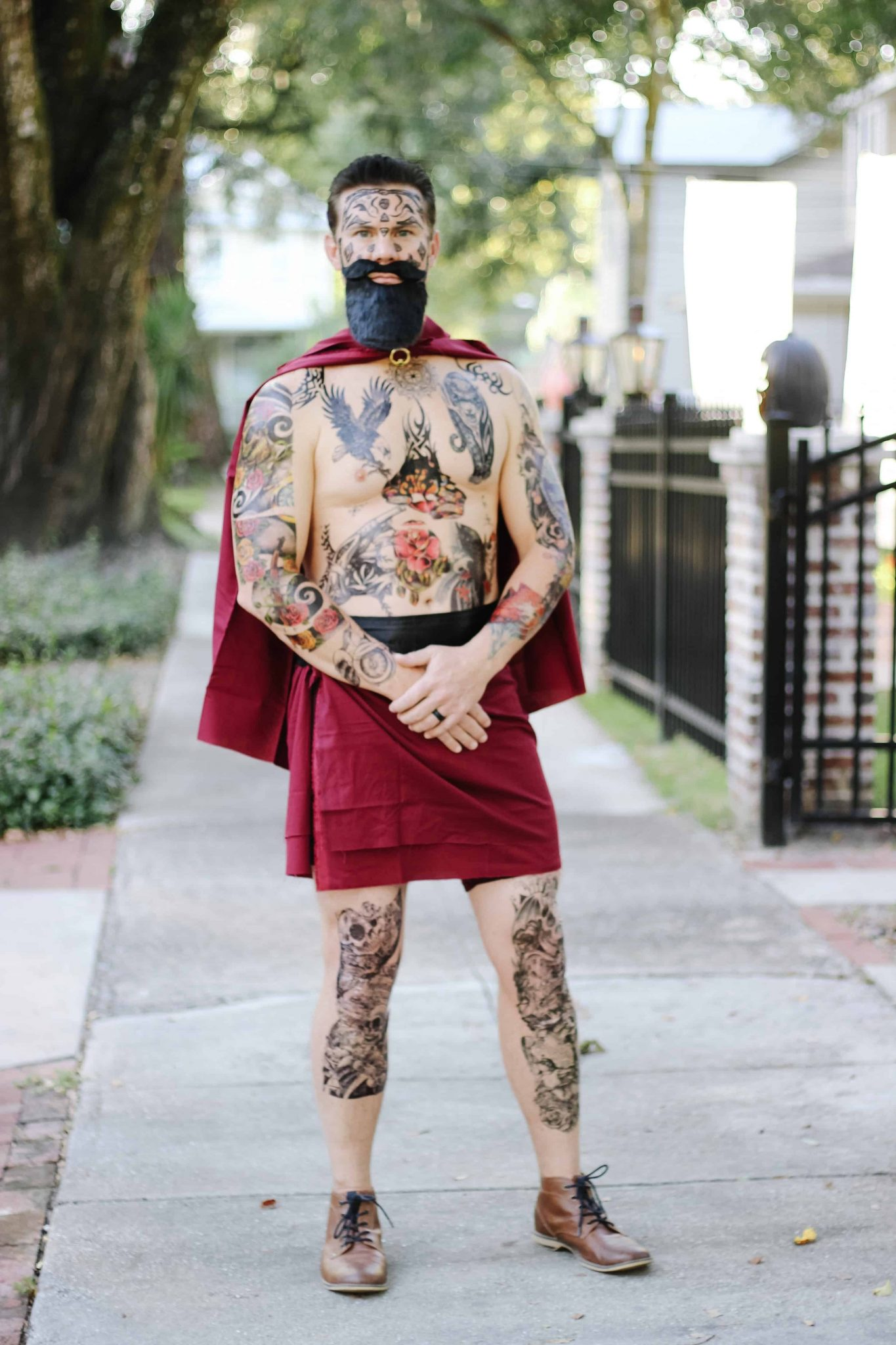 Greatest Showman Halloween Costumes | tattoo man