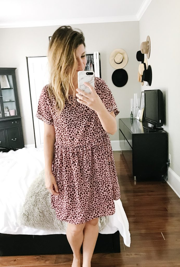 mom style amazon pink dot tunic dress