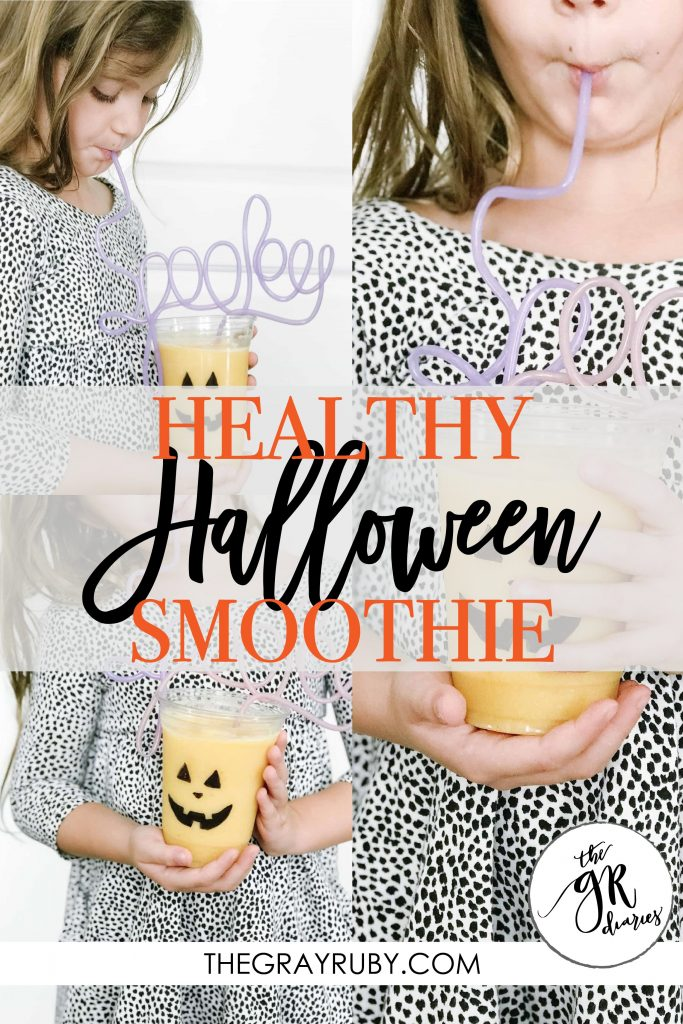 healthy halloween smoothie