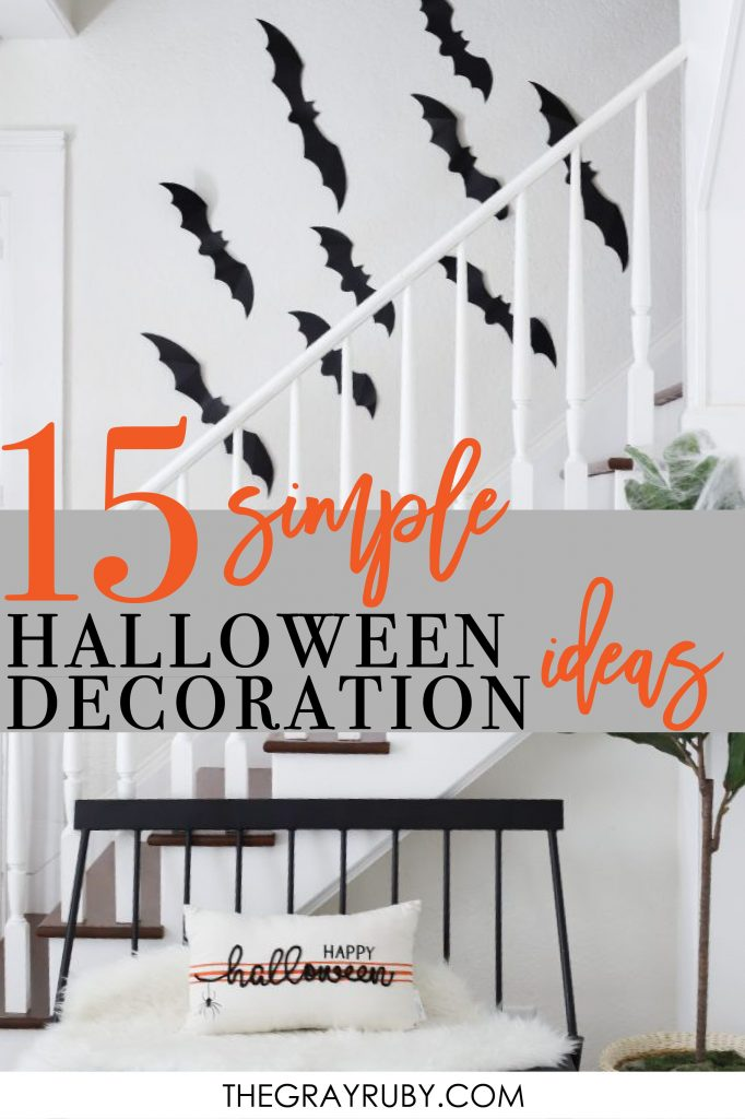 15 simple halloween decoration ideas