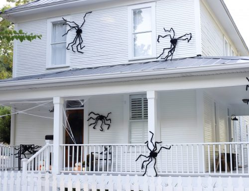 How to Attach Halloween Spiders on The House
