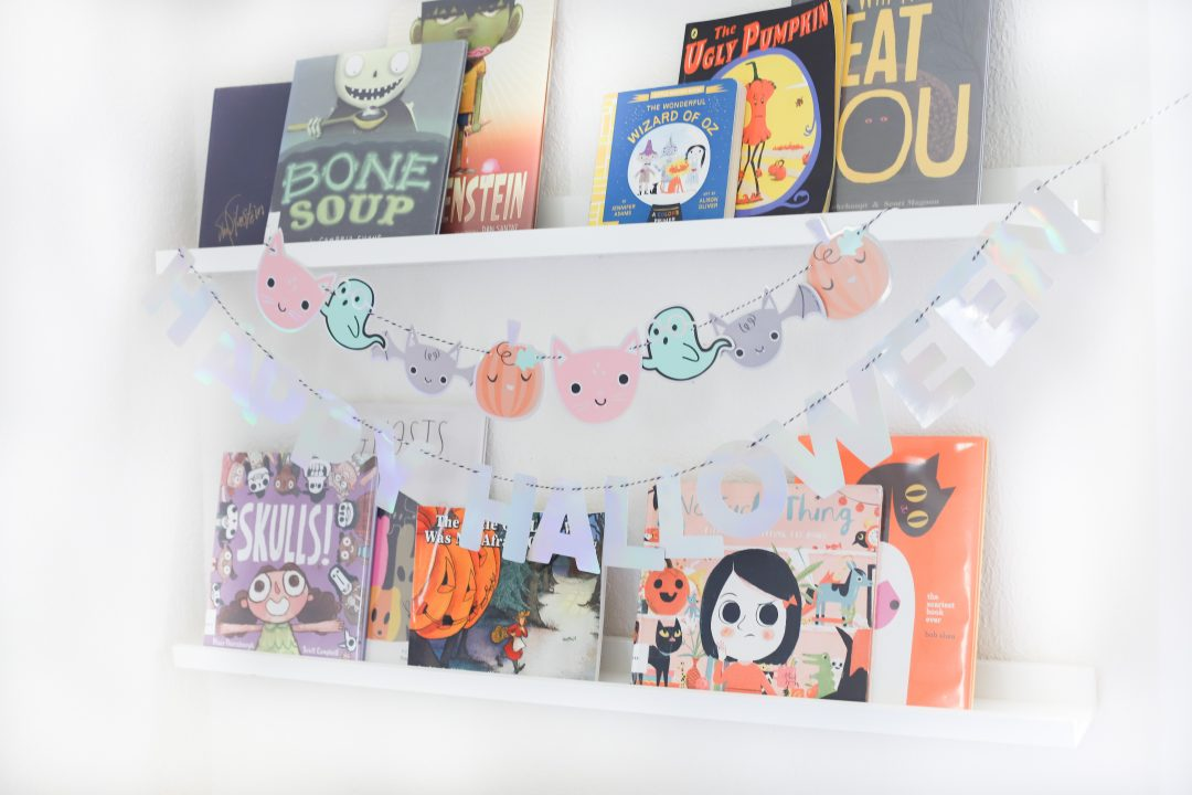 must have halloween books for kids - halloween book shelf