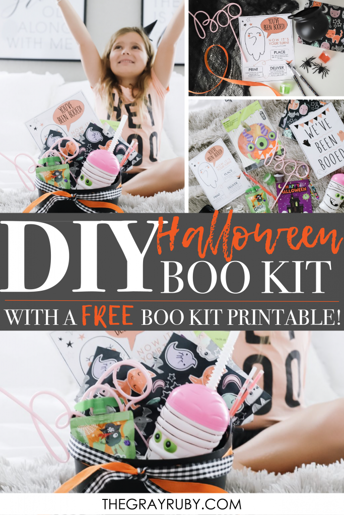 DIY Halloween Book Kit with a free boo kit printable