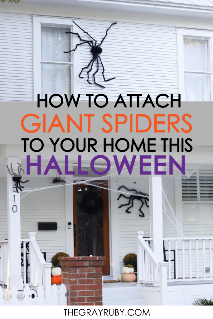 how to attach giant spiders to your home this halloween