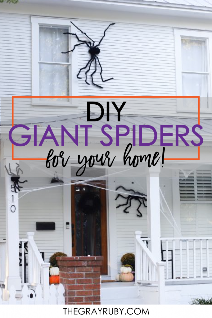 DIY Giant spiders for your home