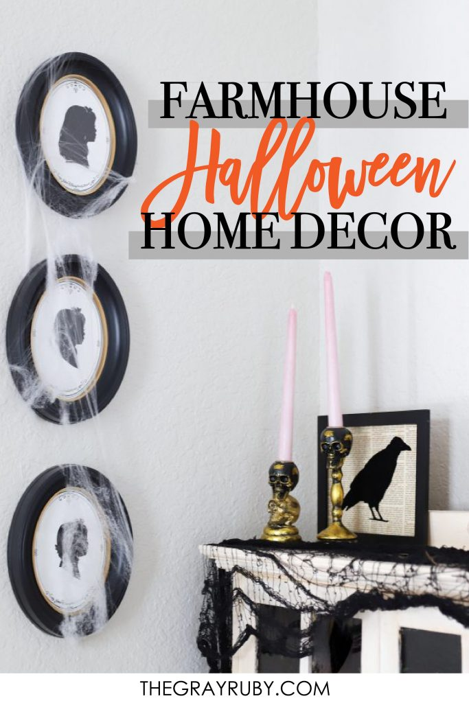 Simple farmhouse halloween decorations