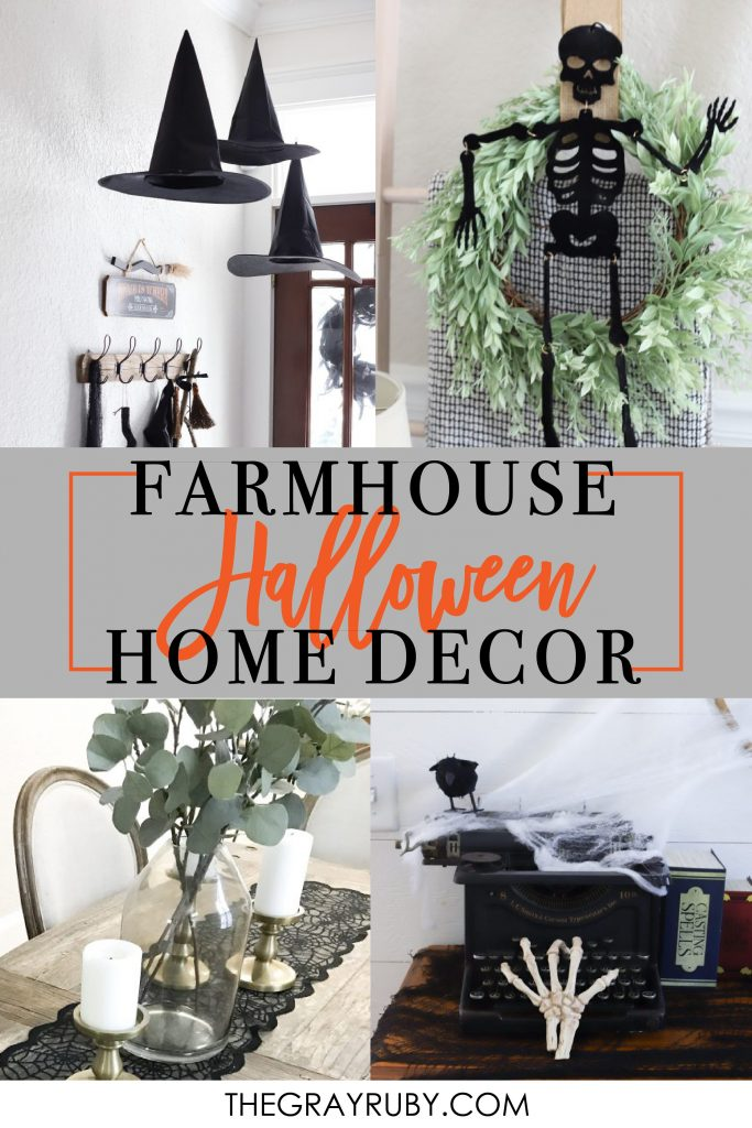 Farmhouse halloween home decor