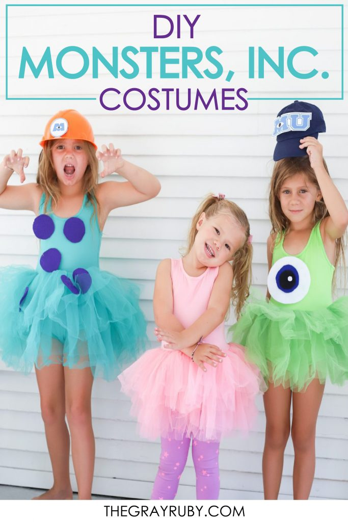 DIY Monsters Inc Costumes - DIY Sully - DIY Mike - DIY Boo