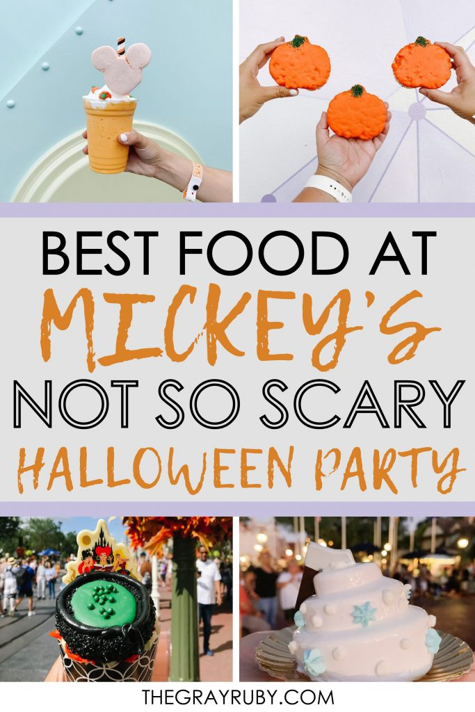 Best food at mickeys not so scary halloween party