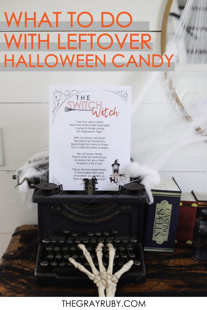 what to do with all your leftover halloween candy - the switch witch - a free poem