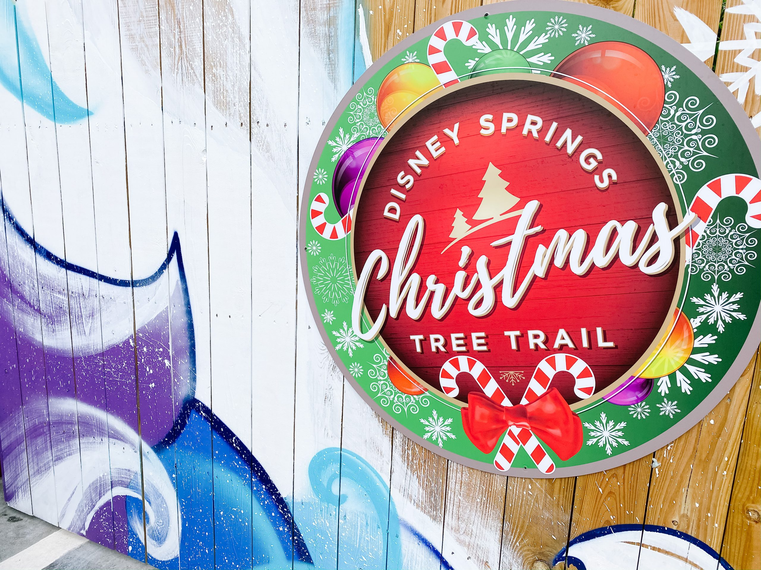 Christmas at Disney Springs - Christmas tree trail details