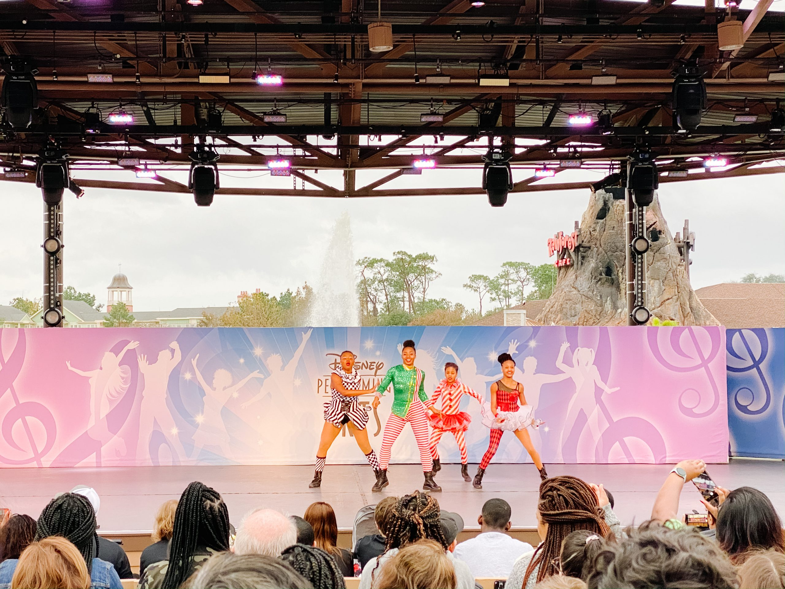 Holiday entertainment at Disney Springs