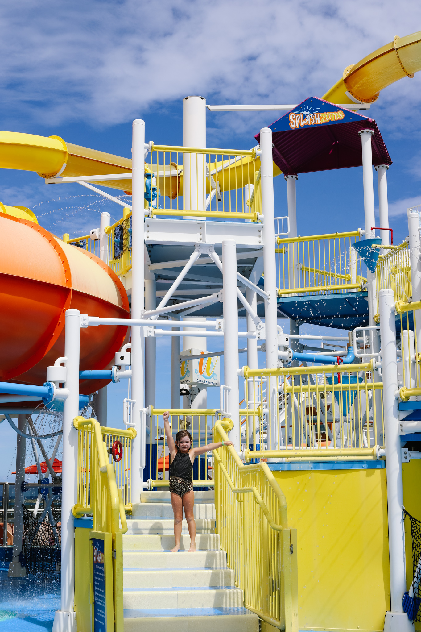 Carnival Breeze Waterworks splash park for kids