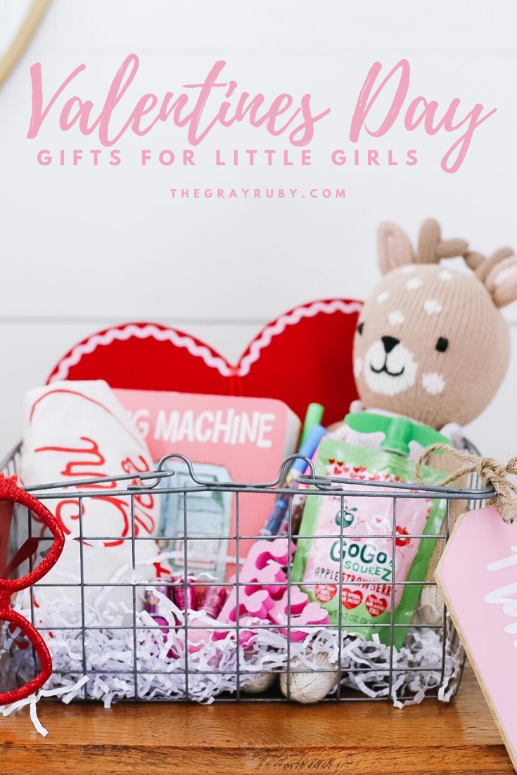 Valentines Day gift ideas for little girls - valentines day gift basket for kids