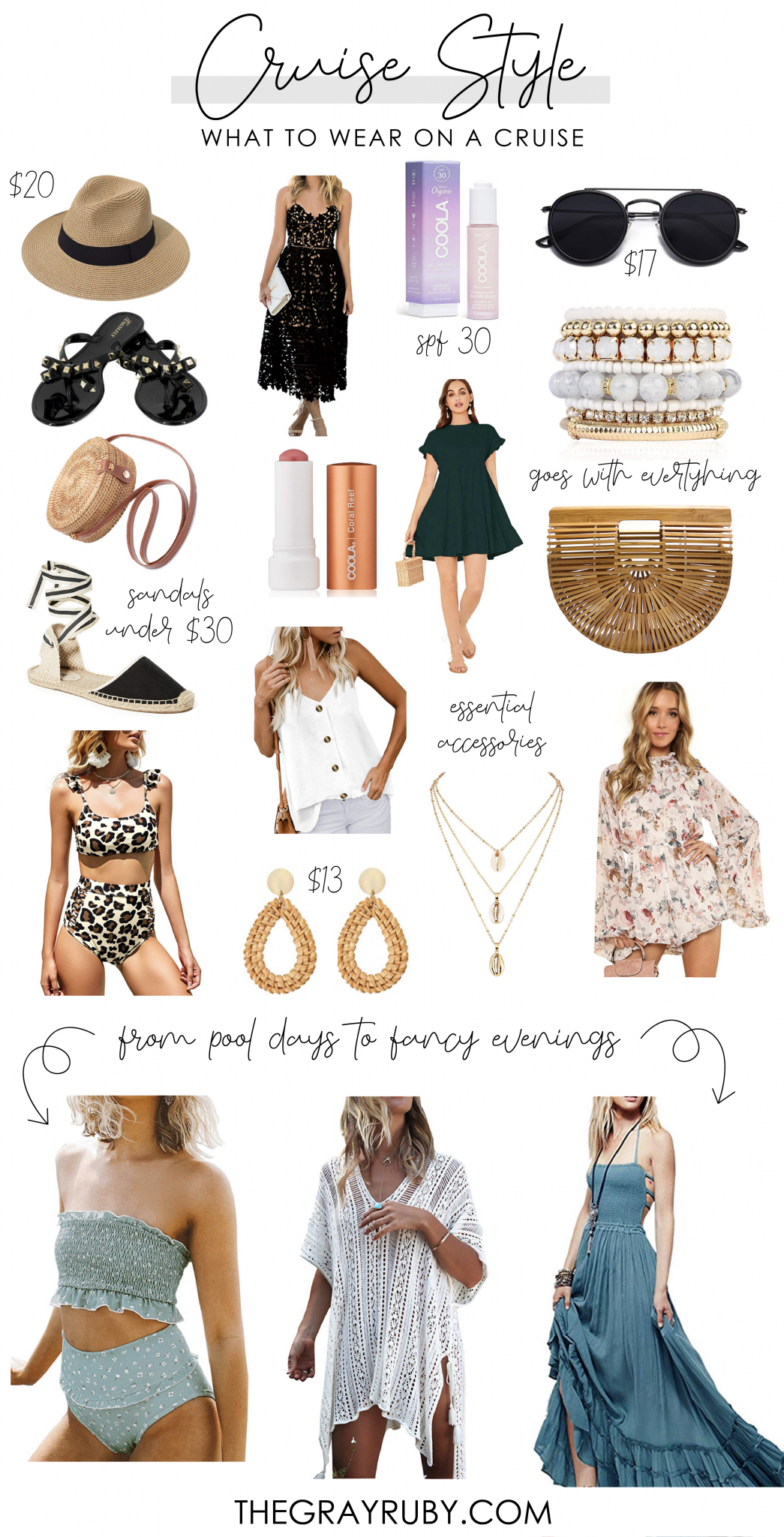 What to wear on a cruise - all of the items you can wear on a cruise during the day or night