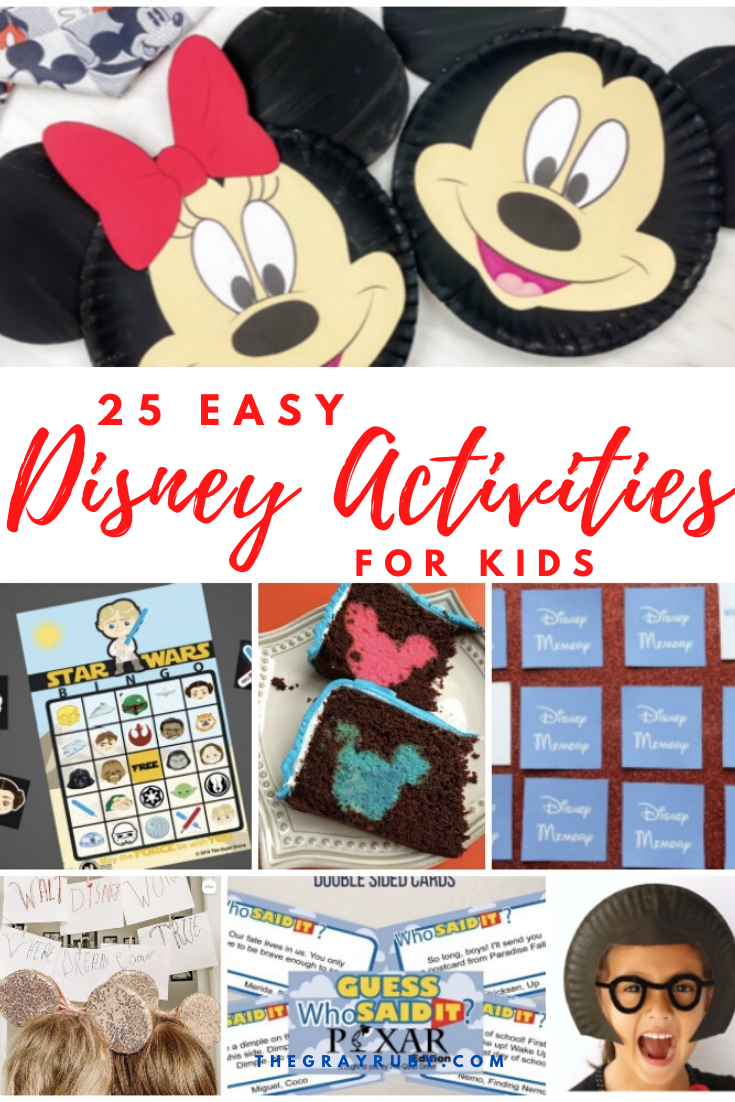 Disney Activities for kids