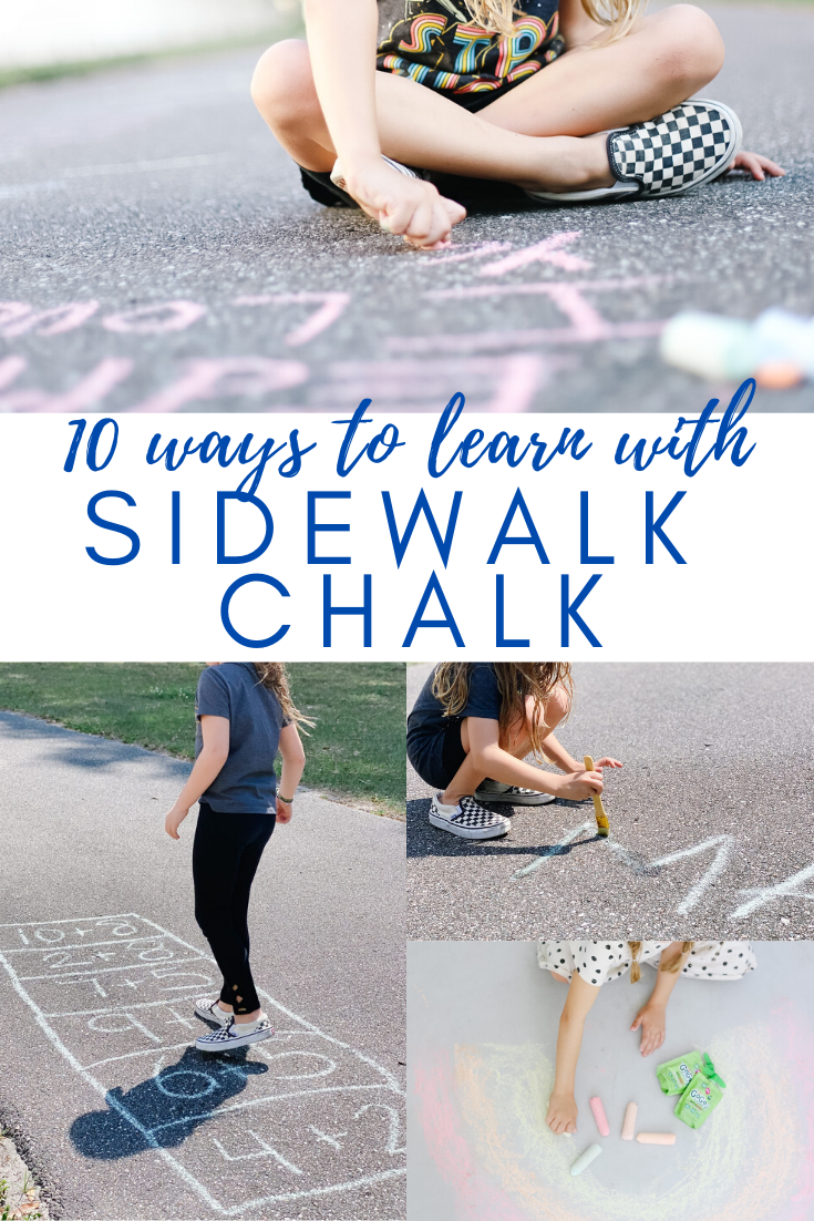 10 ways to learn with sidewalk chalk
