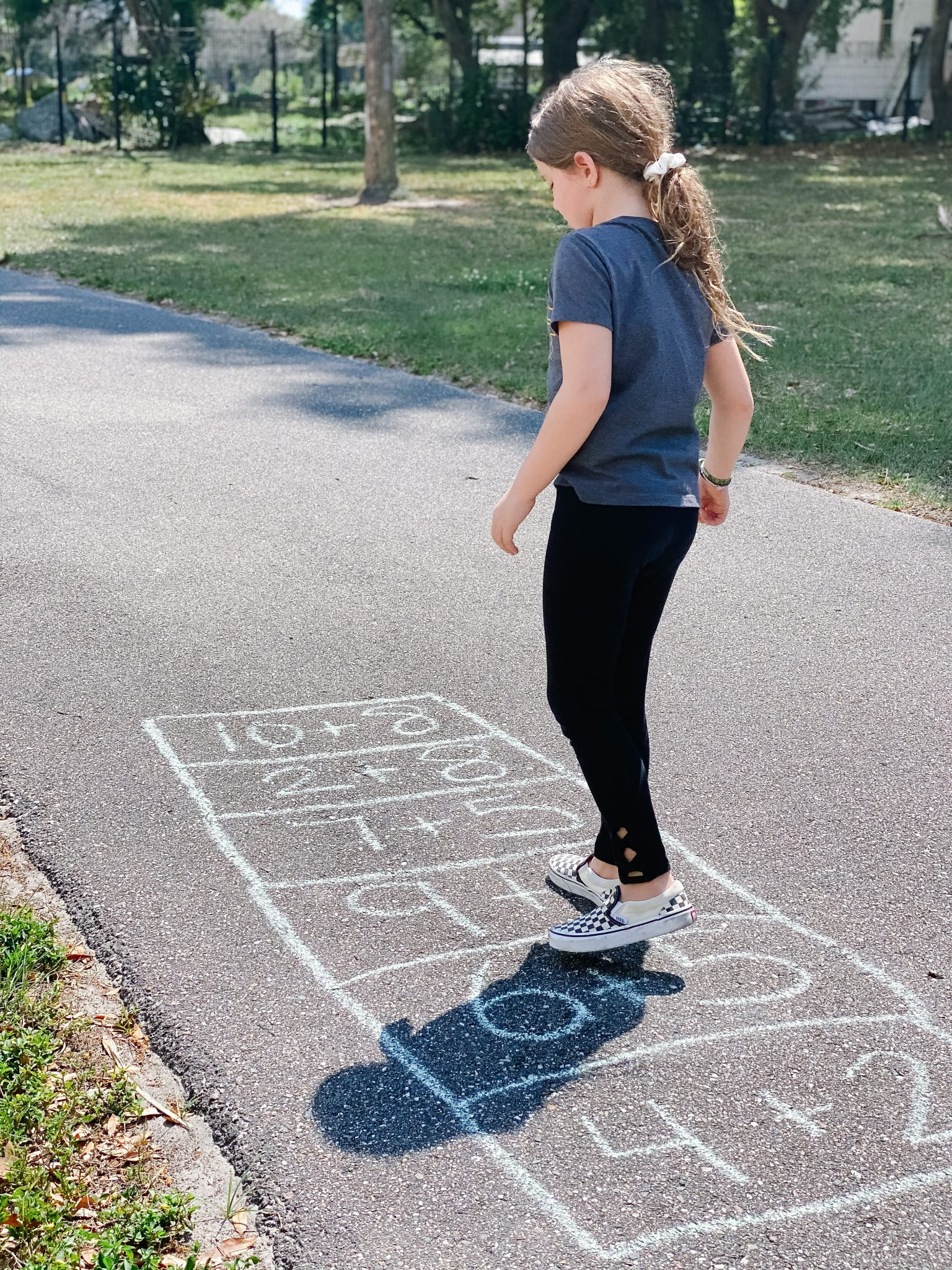 hopscotch math - learning with sidewalk chalk