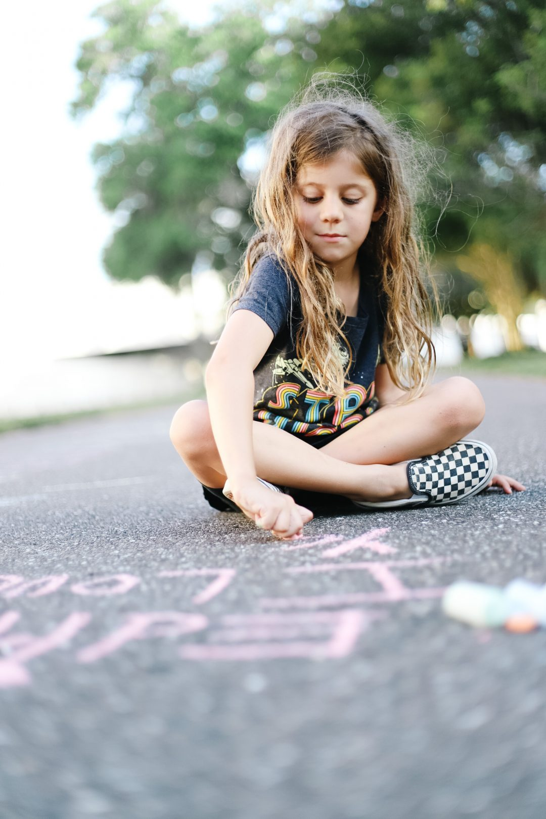 learning with sidewalk chalk
