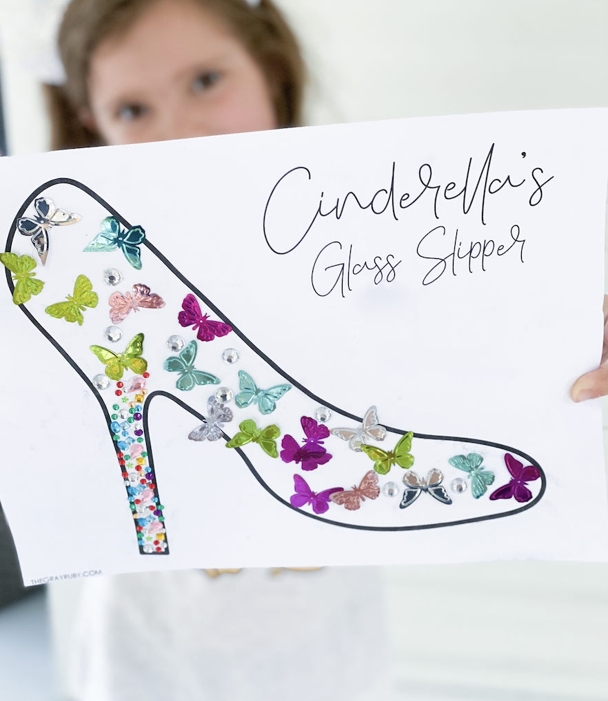 Cinderella glass slipper craft