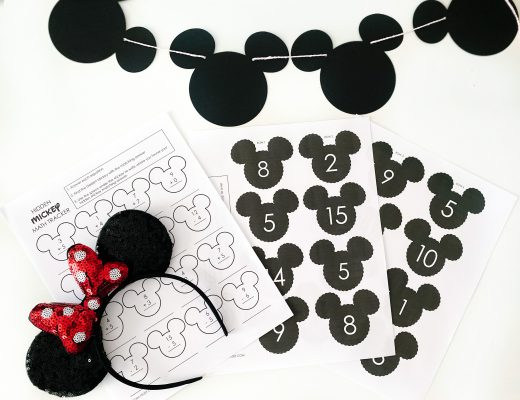 Hidden Mickey Math Game
