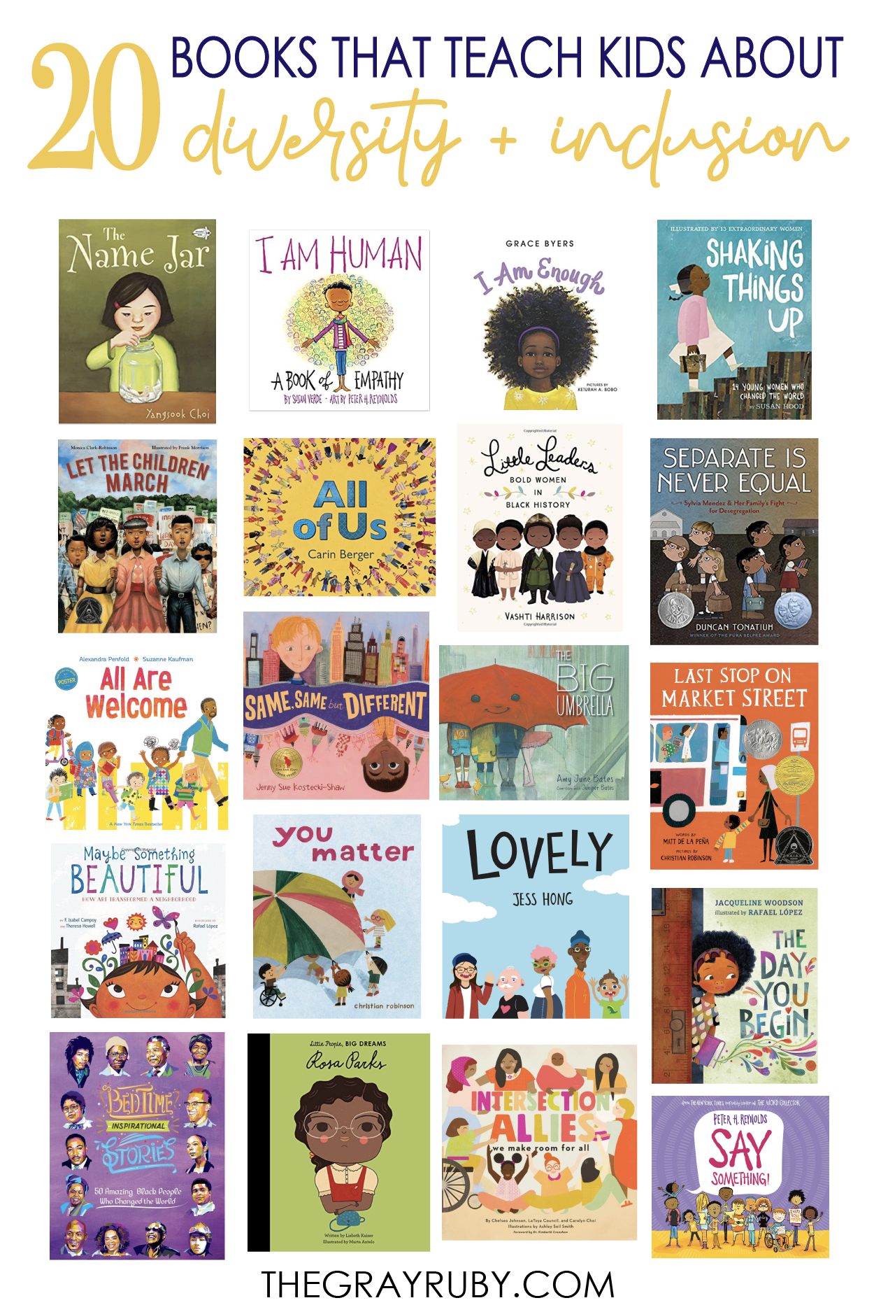 Books that teach kids about diversity and inclusion