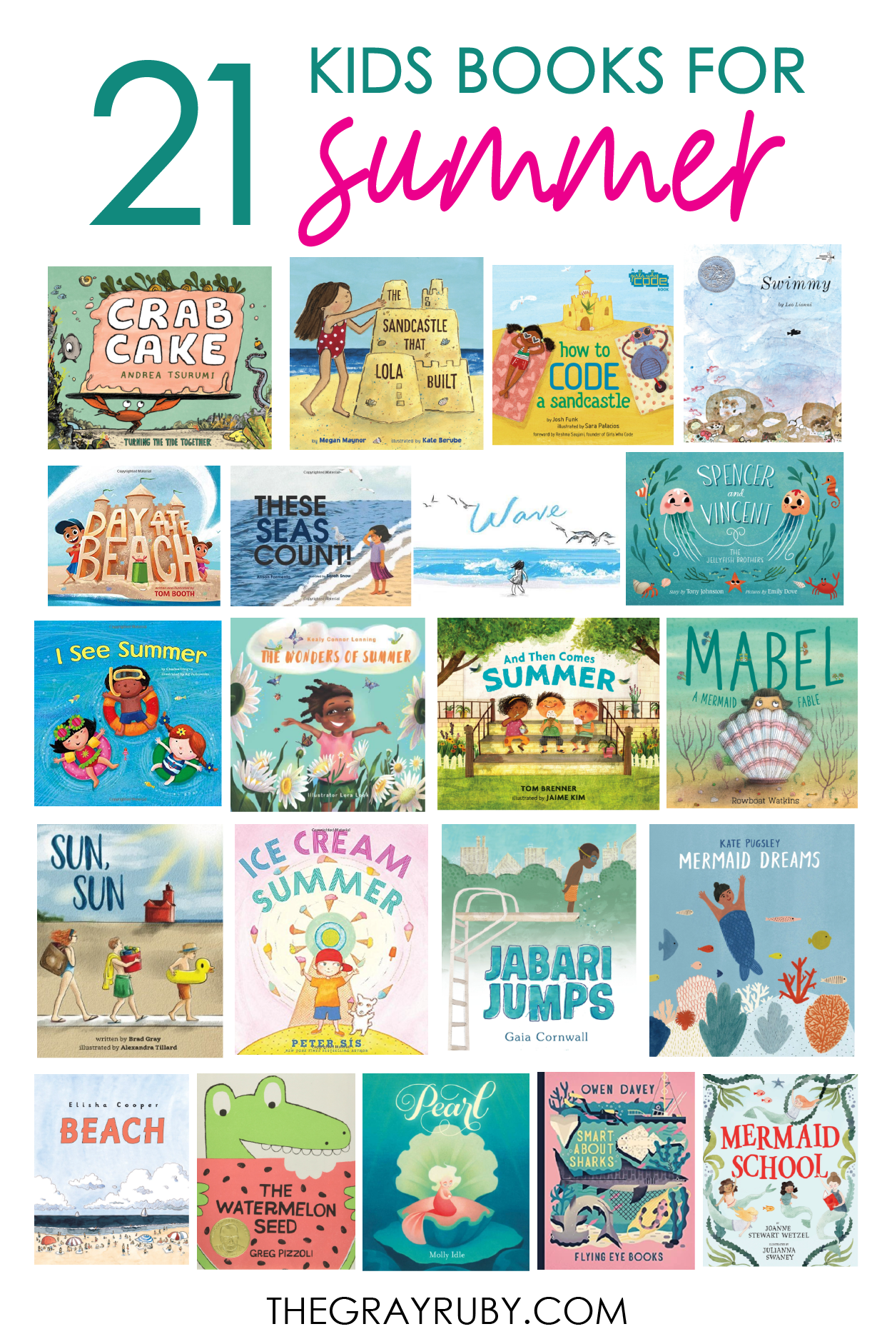 21 children's books about summer - summer books for kids