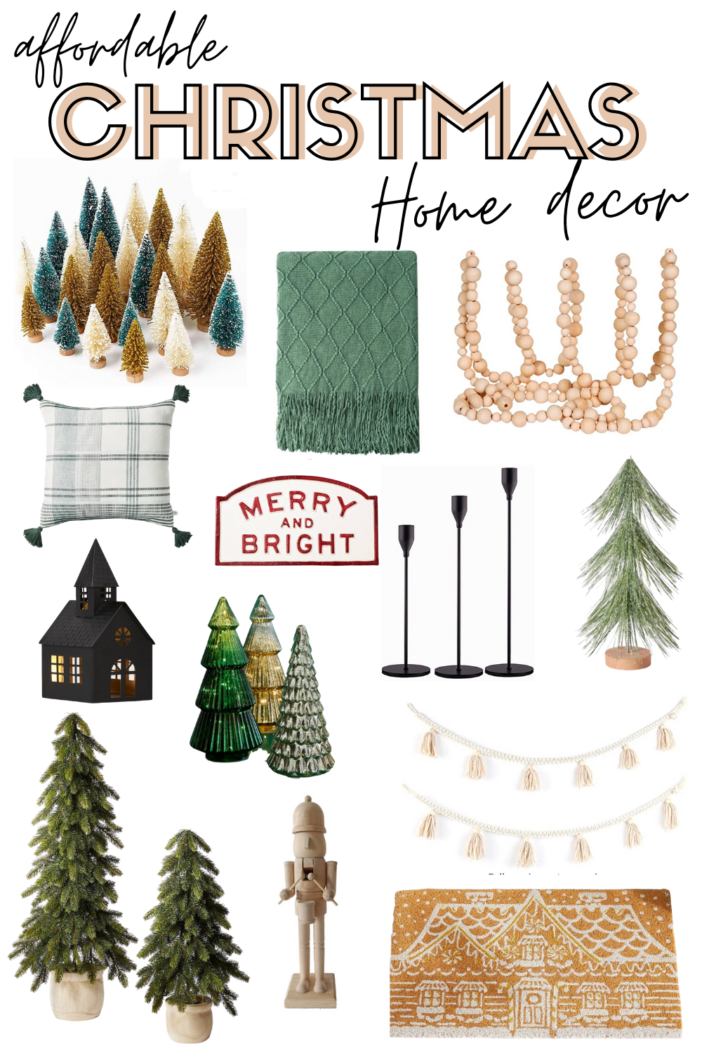 Affordable Christmas Decor - Neutral Christmas Home Decor