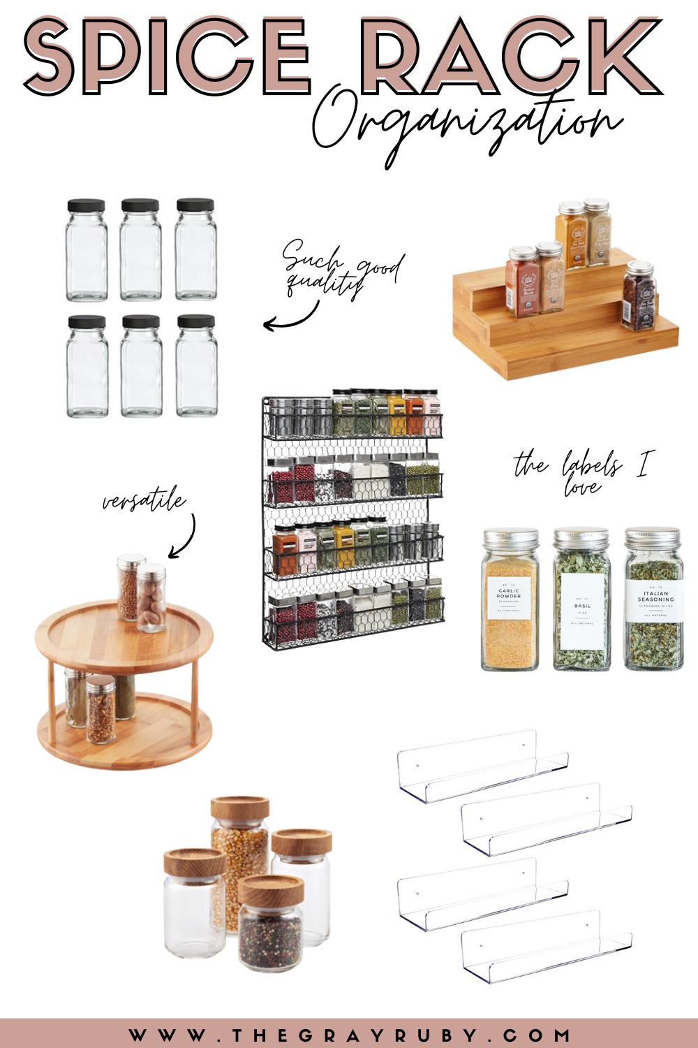 Spice rack organization must haves - modern spice rack - spice rack DIY
